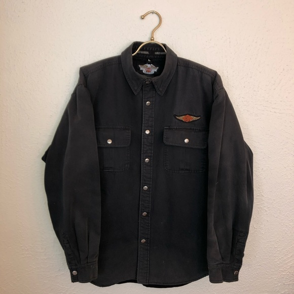 Harley-Davidson Other - Harley Davidson Fleece Lined Button Down Shirt